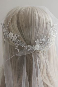 BESPOKE for Tracey_Anais bridal hair vine with MoP flower details 6
