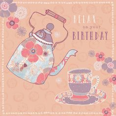 Rebecca Prinn - RP Floral Teapot Birthday Mother's Day