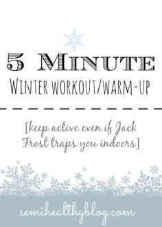 5 minute winter workout + warm-up #fitness #active #motivation
