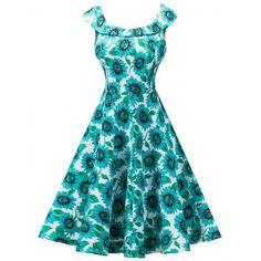Corsion Women Leopard Print Dress Ladies O-Neck Long Sleeve Audrey Hepburn Skirt Party Swing Dress
