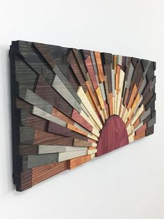 """Wood wall art - """"Edge of the Day 36 x 12 wooden wall art textured wood art home decor wall hanging by stainsandgrains modern sunrise - Sunrise"""" for sale by Stains and Grains – wooden wall art, textured wood art, - Wood Wall Art Decor, Wood Artwork, Pallet Wall Art, Wooden Wall Art, Wooden Walls, Scrap Wood Art, Art Texture, Reclaimed Wood Art, Wood Wood"""