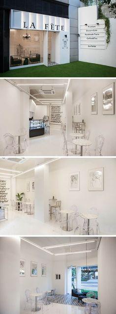 [No.207 라페트] 홍대 상수동 20평 화이트 모던 디저트 카페, 카페 외관, 모던 가구