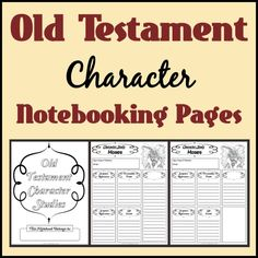 LDS Notebooking: Free Old Testament Character Study Notebooking Pages