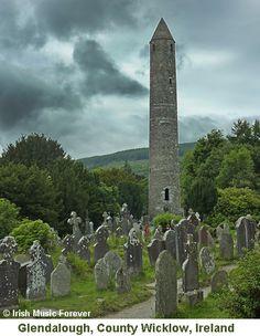 Round Tower Glendalough, County Wicklow, Ireland