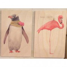 postales en madera