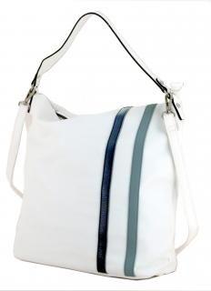 Lichtblau Schultertasche Galini white kombi weiß Streifen - Bags & more Hobo Bag, Rebecca Minkoff, Gym Bag, Fashion, Artificial Leather, Stripes, Blue, Moda, Fashion Styles