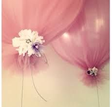 Ohhh I just love these - sheer fabric over a balloon knotted off with flowers. Perfect for any occasion