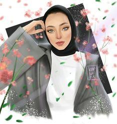 Anime hijab drawing-Kapal k z izimi Tesett r Fashion Illustration Sketches, Cute Illustration, Drawing Sketches, Hijab Fashion, Fashion Art, Images Eid Mubarak, Swag Girl, Hijab Drawing, Girl Emoji