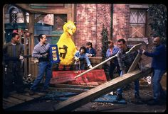 On Friday, we'll be airing a very special episode of Sesame Street.    A hurricane has swept through Sesame Street and everyone is working together to clean up the neighborhood. When Big Bird checks on his home, he is heartbroken to find that the storm has destroyed his nest.