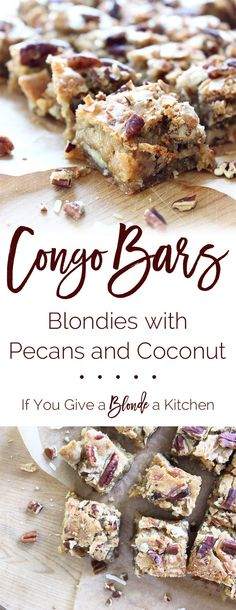 Congo Bars: Blondies