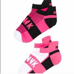 Victoria Secret 2 Pairs Ankle socks Pink  Brand new PINK Victoria's Secret Accessories Hosiery & Socks