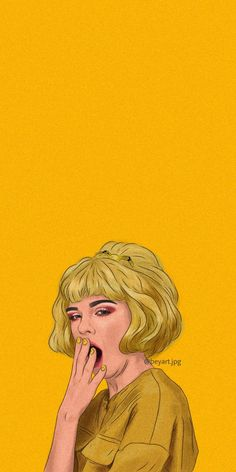 orange portrait illustration by shakira naé Wallpaper 4k Anime, Iphone Wallpaper Yellow, Cartoon Wallpaper Iphone, Mood Wallpaper, Iphone Background Wallpaper, Cute Disney Wallpaper, Aesthetic Pastel Wallpaper, Cute Cartoon Wallpapers, Power Wallpaper