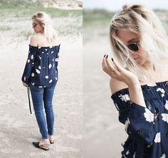 More looks by Stryle TZ: http://lb.nu/stryletz  #bohemian #casual #edgy #offshoulder #spo #beach #ganni #denim #zara