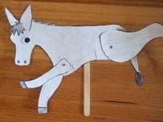 The Wonky Donkey - printable donkey split pin puppet