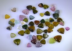 Tourmaline loose Stone 1 Pieces 4x4,5x5,6x6,7x7,8x8 mm Trillion Multi cabochon in Jewellery & Watches, Loose Diamonds & Gemstones, Tourmaline | eBay