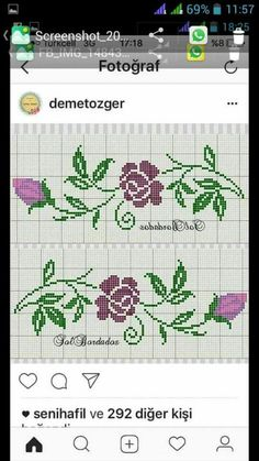 Cross Stitch Samplers, Bargello, Cross Stitch Flowers, Lily, Bullet Journal, Models, Crochet, Instagram, Bandana