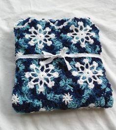 Handmade Snowflake Throw Crochet Snowflake Afghan Handmade