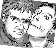 warmup sketch of that great bilbo & smaug/watson & holmes pic