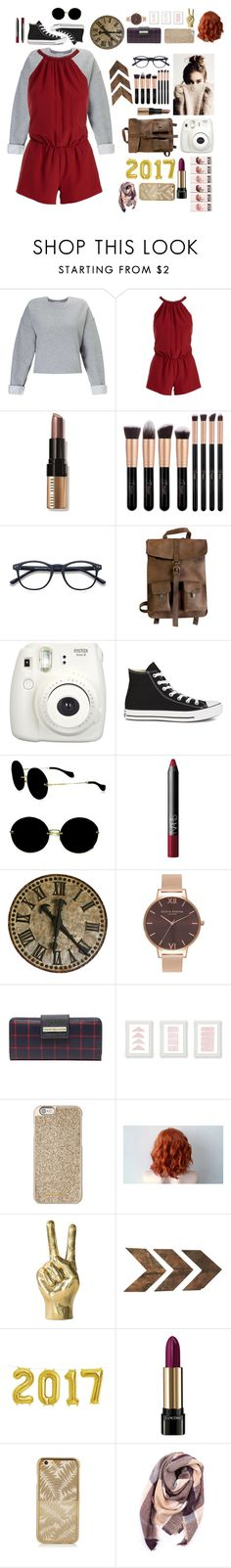 """tired being tired"" by faiaawaetford on Polyvore featuring Miss Selfridge, Joie, Bobbi Brown Cosmetics, Kjøre Project, Fujifilm, Converse, Miu Miu, NARS Cosmetics, Olivia Burton and Tommy Hilfiger"