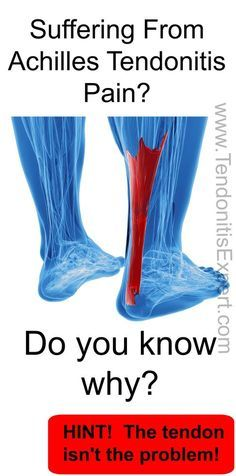 Do you know why you're suffering from Achilles Tendonitis? If you think it's because of a tendon problem, you'd be wrong about that. www.TendonitisExpert.com/achilles-tendonitis.html