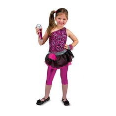 Get the spotlight ready because your little ones will be rocking the stage in no time with this cool Rock Star Role Play Costume from Melissa & Doug!