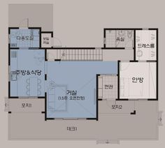 월간전원주택라이프 Unit Plan, Interior Sketch, Forest House, Prefab, House Floor Plans, Detached House, Interior And Exterior, Tiny House, New Homes