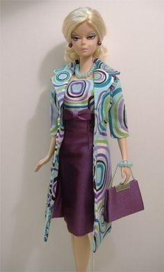 VERSION TWO -New Handmade Dress & Coat Set for Silkstone Fashion Model Barbie