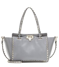 7734bcc2e Rockstud Small grey leather tote Valentino Rockstud, Rockstud Shoes, Valentino  Bags, Fashion History