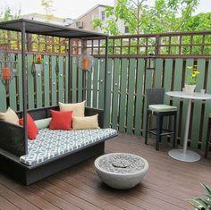 Cerco de casa hecha con listones de madera -  Busybee Design