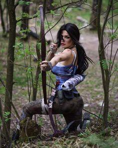 Character: Lara Croft / From: Square Enix's 'Tomb Raider' 2013 Reboot / Cosplayer: Irina Meier (aka Irina Meier Cosplay, aka Captain Irachka Cosplay) / Photo: Irina Pirogova / Photo Retouch: Alisa Valeeva Tomb Raider Cosplay, Lara Croft: Tomb Raider, Lara Croft Cosplay, Lara Croft Tomb, Lara Croft Costume, Fantasy Anime, Fantasy Girl, Archery Girl, Women's Archery