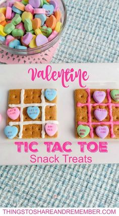 Valentine Tic Tac Toe Treats