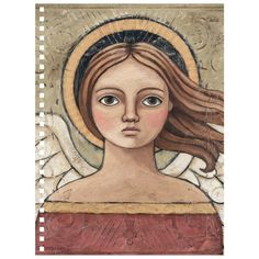 Oh My Soul angel art by artist Teresa Kogut Canvas Artwork, Canvas Art Prints, Elefante Hindu, Colonial Art, Angel Drawing, Angel Art, Religious Art, Religious Icons, Christian Art