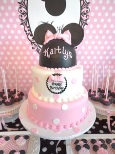 My daughter's Minnie Mouse birthday cake