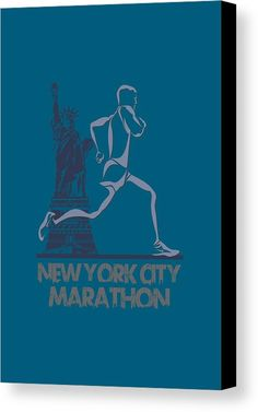 Runner Canvas Print featuring the photograph New York City Marathon3 by Joe Hamilton