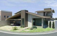 Fachada de Casa Terrea - Maquete Eletronica - 3D