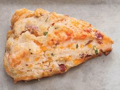 Bacon, Cheddar, and Chive Scones | Let your scones take a savory turn by adding chopped bacon, cheese and chives.