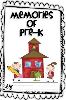 This is the perfect end-of-the-year activity for your Pre-K class. Just glue the cover on construction paper, laminate