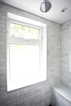 Bathroom Window Types black and white bathroom remodel. glass block with awning window