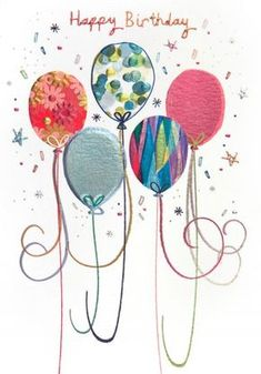Cut out interesting patterned paper as balloons