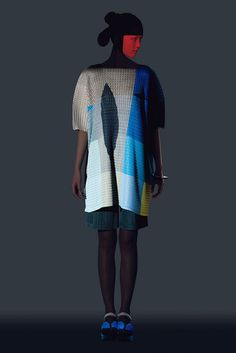 7a4311be50cb Ikko Tanaka s graphic faces peer out of Issey Miyake clothing collection  Ikko Tanaka