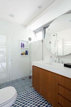 Decoração, decoração de apartamento, apartamento, apartamento grande, luz natural, banheiro, lavabo, revestimento