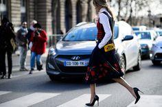 Helena Bordon - Street style - Paris Fashion Week