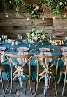 Pretty Rustic Chair Decor | photography by http://www.kristynhogan.com | floral, event design, planning, and stationery by http://www.sagenines.com/