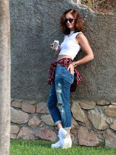 miauslife, miau´s life, muotiblogi, fashionblog, fashionblogger, ripped jeans, ruutupaita, crop top, fashion inspiration