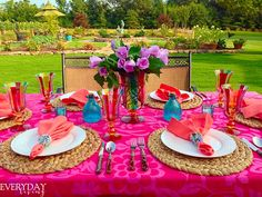 Tablescape Tuesday: Colour My World!   Everyday Living