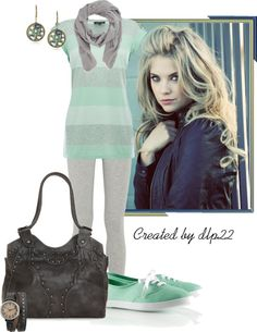 """""""Mint Green and Gray"""" by dlp22 ❤ liked on Polyvore"""