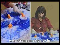 Tv Transamérica Pintura em seda - manchado