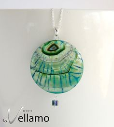 Green Dragon Mneventh large agate stone pendant by byVellamo, $22.00