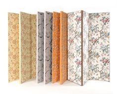 folding screens in vintage wallpaper