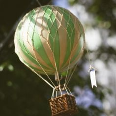 This couple used hot air balloons throughout their wedding to create a whimsical feeling!